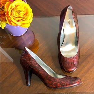 Style & Co. Pamela Croc Print Heels